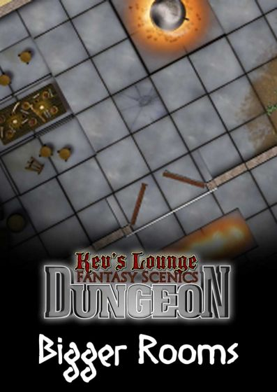 Kev's Lounge Dungeon TIles: Bigger Rooms - High-quality