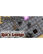 Kev's Lounge Dungeon Tiles - Flagstone, Small Rooms