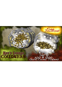 500 and 1000 Gold Coins Tokens