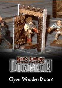Kev's Lounge Dungeon Doors - Open Simple Wooden Doors