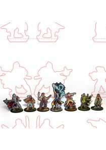 Cutfiles for Swords for Hire - Paper Miniatures