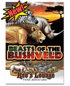 Paper Minis - Beasts of the Bushveld cover