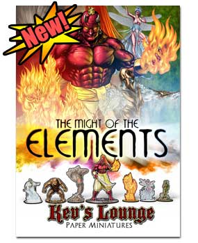 Paper Minis - The Might of the Elements Cover