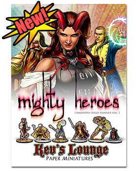 Paper Minis - Mighty Heroes cover