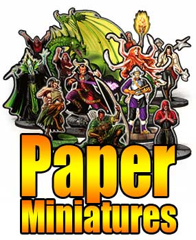 graphic regarding Printable Paper Miniatures called Papercraft Dungeon Print-And-Perform Gaming