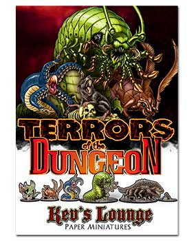 Paper Minis - Terrors of the Dungeon Cover